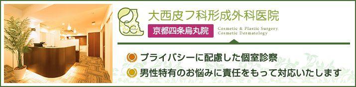 大西皮フ科形成外科医院 京都四条烏丸院のイメージとキャッチコピー